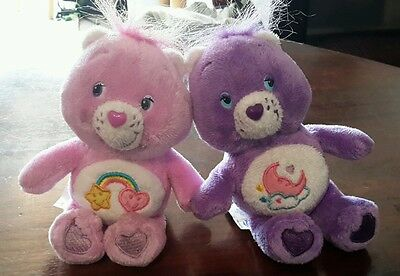 2 Care Bears with clips 2011 classic Childrens toy