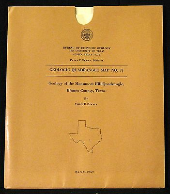 Geology of the Monument Hill Quadrangle, Blanco County, Texas 1967