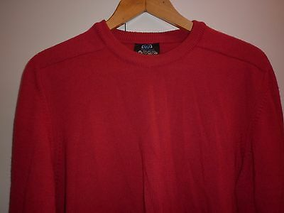 Vintage Red Pure Wool Australian Made Jumper Excellent Condition