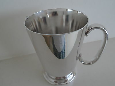 Vintage Heavy Quality Silver Plate One Pint Tankard Baluster Shape  - Gleaming