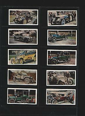 trade cards veteran motor cars R.S.P.A 1955 complete set