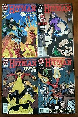 Hitman 15-18 VF/NM, Ace of Killers, 1st app of Section Eight (1997, DC)