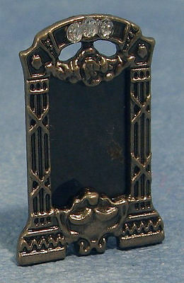 Dollhouse 12Th-Lovely Dark Silver Coloured Picture Frame