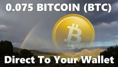 0.075 Bitcoin (BTC) - Mined Bitcoin Direct To Your Wallet - By CryptoCoinShop