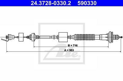 Clutch Cable ATE 24.3728-0330.2 for Citroen