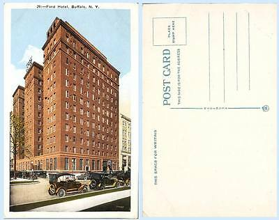 Ford Hotel Building Buffalo New York Postcard Architecture - Scarce