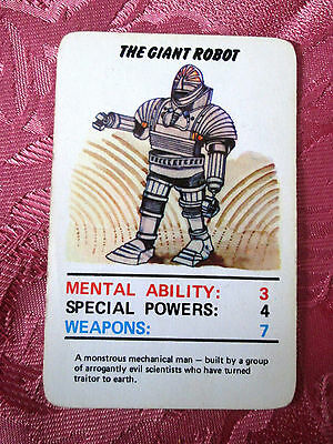 Doctor Who Jotastar 1978 card game GIANT ROBOT  (Top Trumps style) SINGLE CARD