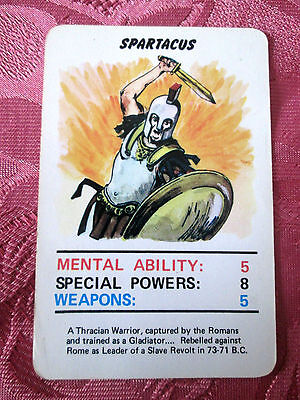 Doctor Who Jotastar 1978 card game SPARTACUS  (Top Trumps) SINGLE CARD