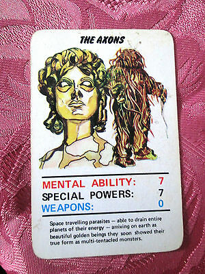 Doctor Who Jotastar 1978 card game AXONS  (Top Trumps) SINGLE CARD