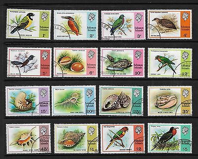 SOLOMON ISLANDS Birds and Shells stamps 1976 SG 305/20 Used