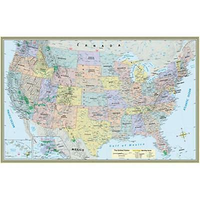 BarCharts 9781423220817 U.S. Map-Laminated