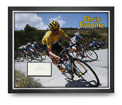 Chris Froome Signed Photo Large Framed 20x16 Tour de France Autograph Display