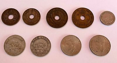 Collection of East Africa coins from 1942 - 1954