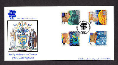 1994 Medical Discoveries Set Of 4 On Bradbury Official Fdc