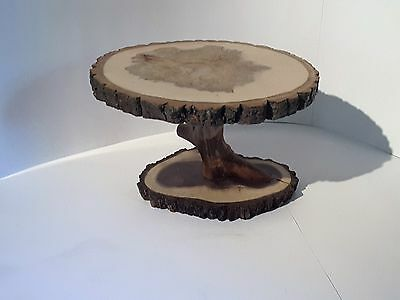 Tree slice display stand, rustic wedding or home décor, centerpiece, cake stand