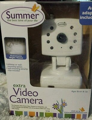 Summer Infant Extra Video Camera for Day or Night Baby Video Monitor 02760 NIB