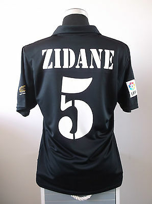 Zinedine ZIDANE #5 Real Madrid Away Football Shirt Jersey 2001/02 (M)