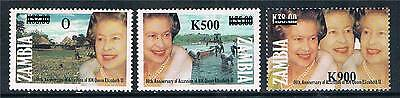 Zambia  1997 Surcharge issue SG 766/8 MNH
