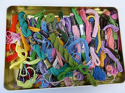 Embroidery Cottons/threads  - Over 40 Skeins - Dmc,coats,anchor,clarks
