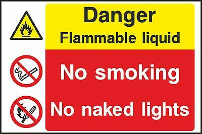 Flamm able Liquid Safety Sign (V7MULT0028) VAT Invoice Supplied