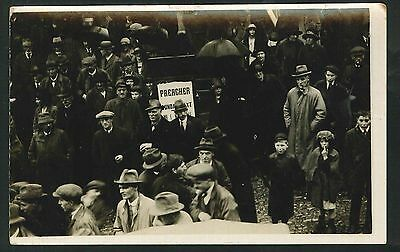Postcard - Knighton Crowd Scene with Preacher - Real Photo - c1920