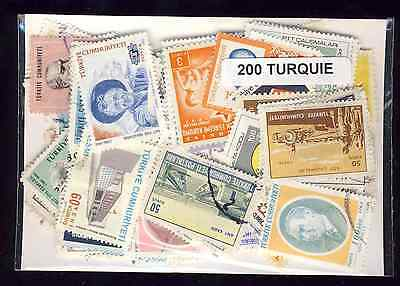 Turquie - Turkey 200 timbres différents