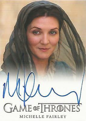 """Game of Thrones Season 2 - Michelle Fairley """"Lady Catelyn Stark"""" Autograph Card"""