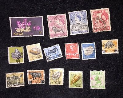 15 Used Postage Stamps From Kenya Mixed Collection Collector