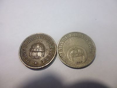 Hungary coins as listed
