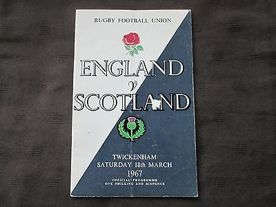 England V Scotland Rugby Union Programme 18th March 1967