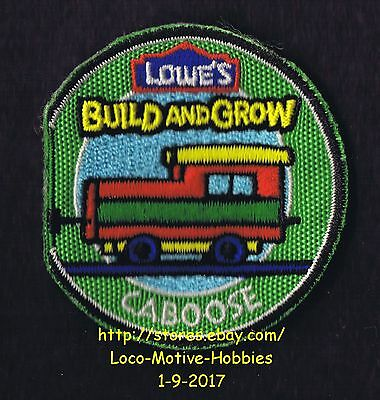 LMH PATCH Badge  2010 TRAIN CABOOSE Car  LOWES Build Grow Clinic Railroad  green
