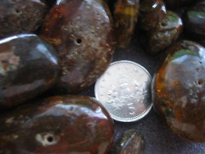 Loose Raw Amber Nugget Shaped Beads. Approx 28  Beads.craft,jewellery Etc.