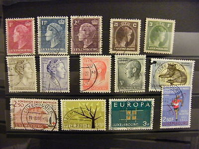 Lot Timbres LUXEMBOURG anciens