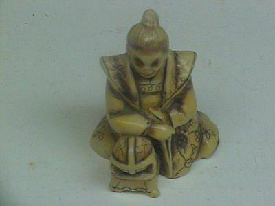 SMALL VINTAGE ASIAN STYLE FIGURE MARKED ON THE BOTTOM w/ ANCHOR
