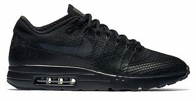 New NIKE Air Max 1 Ultra Flyknit Men's Running Shoes black