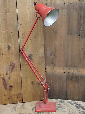 Anglepoise Desk Lamp c1950 by Herbert Terry old light industrial orange vintage
