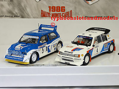 C3590a Scalextric - 1986 Rallye Monte Carlo - Peugeot 205 Vs MG Metro 6R4 - New