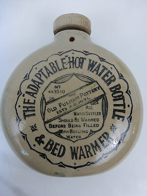Antique Fulham Pottery The Adaptable Stoneware Hot Water Bottle And Bed Warmer