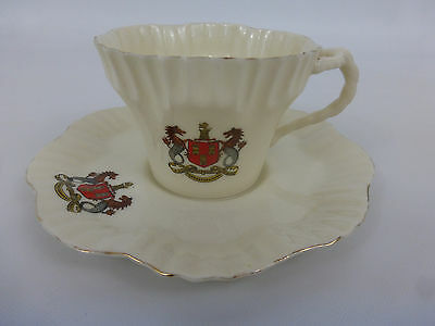 Arcadian Crested China Cup And Saucer Newcastle On Tyne