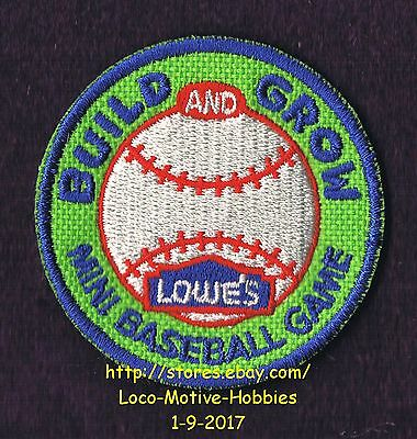 LMH PATCH Badge 2010 MINI BASEBALL GAME Base Ball Soft LOWES Build Grow Workshop