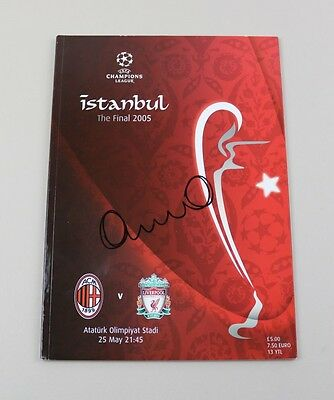 Harry Kewell Signed Original 2005 Istanbul Champions League Final Programme COA