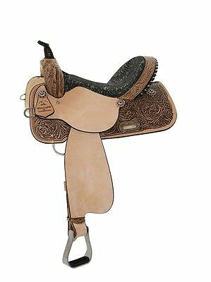 "High Horse Jewel Barrel Saddle #6221 New 14"" Regular Quarter Horse Bar"