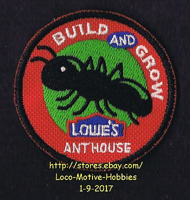 LMH PATCH Badge  2008 ANT HOUSE Farm  LOWES Build Grow Workshop Insect Bug Box