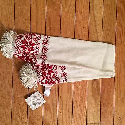 NWT.  Janie and Jack unisex cream and red winter scarf.  Up to 3T.