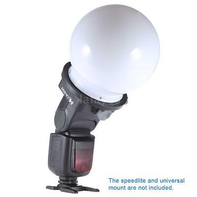 15CM Flash Speedlite Light Bounce Soft Ball Dome Softbox Diffuser Reflector F7P2