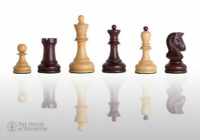 """The Dubrovnik Chess Set - Pieces Only - 3.75"""" King - Purpleheart Gilded"""