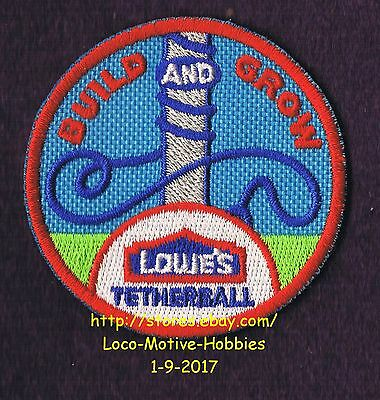 LMH PATCH Badge  2008 TETHERBALL Volley Ball Pole Rope LOWES Build Grow Workshop