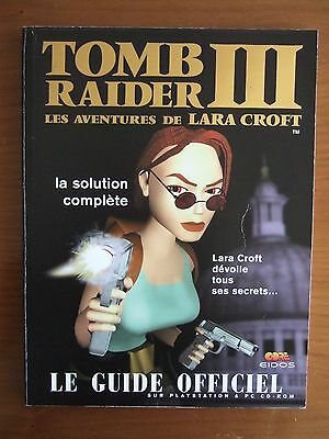 Guide Officiel Fr Tomb Raider Iii 3 Pc Comme Neuf
