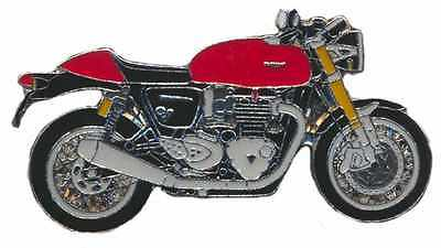 Triumph Thruxton 1200 Enamel Motorcycle Pin Collectors Badge from Fat Skeleton