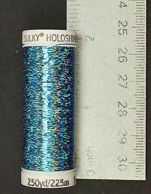 Sulky Holoshimmer Metallic Thread - Peacock Blue Creative Sewing/Fly Tying